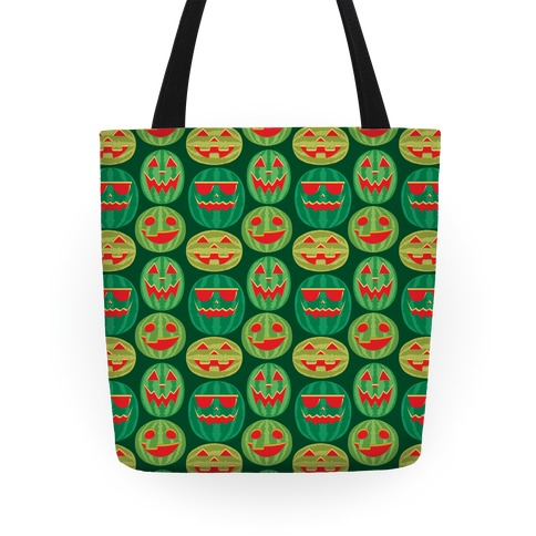 Jack-o-Melon Pattern Tote