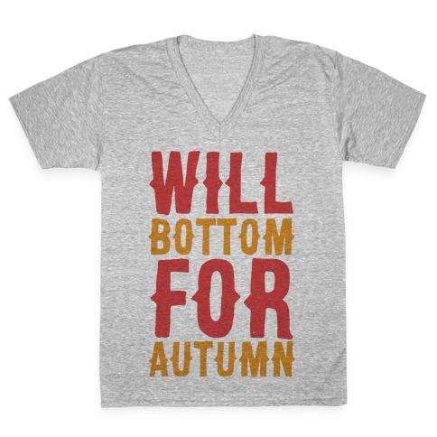 Will Bottom for Autumn V-Neck Tee Shirt