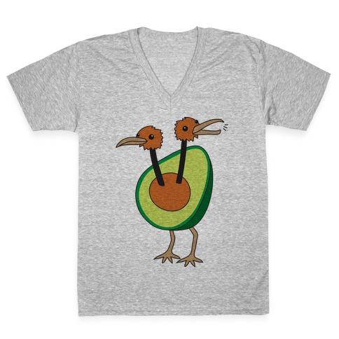 Avocadoduo (Avocado Doduo Parody) V-Neck Tee Shirt