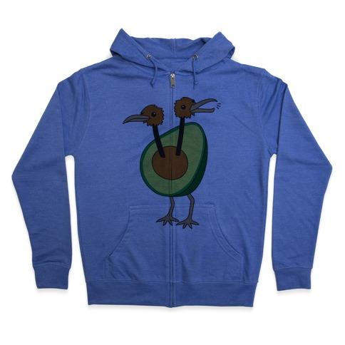 Avocadoduo (Avocado Doduo Parody) Zip Hoodie