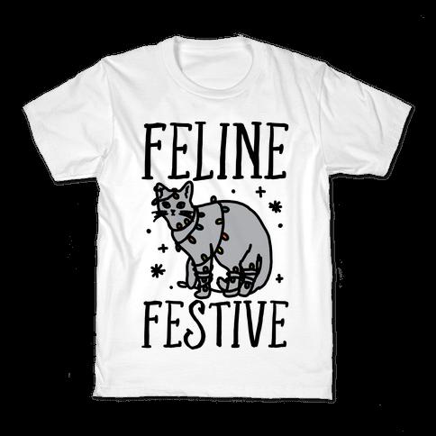 Feline Festive  Kids T-Shirt
