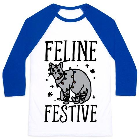 Feline Festive Baseball Tee