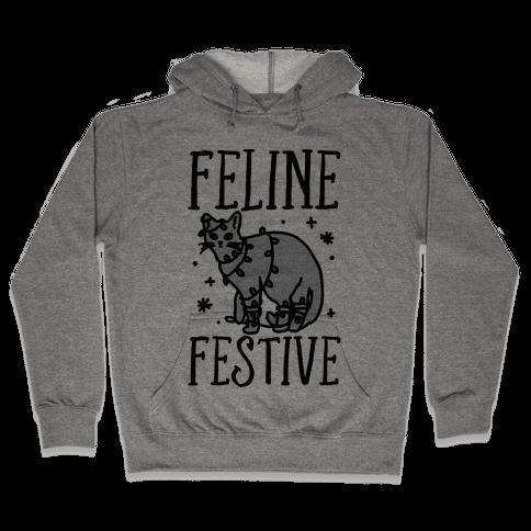 Feline Festive  Hooded Sweatshirt