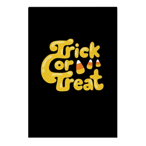 Retro Trick or Treat Garden Flag