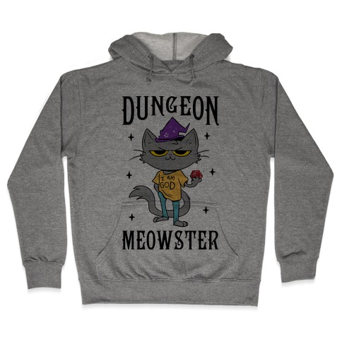 Dungeon Meowster Hooded Sweatshirt