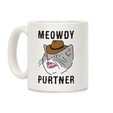 Meowdy Purtner Cowboy Cat Coffee Mug