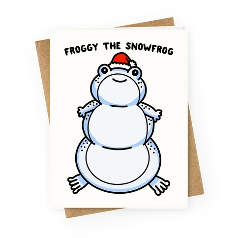 Froggy The Snowfrog Greeting Card