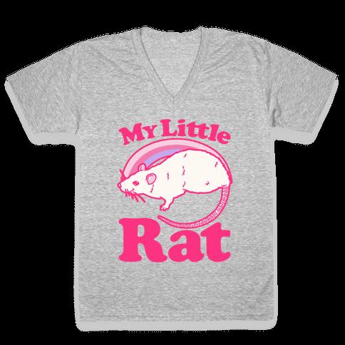 My Little Rat Parody V-Neck Tee Shirt