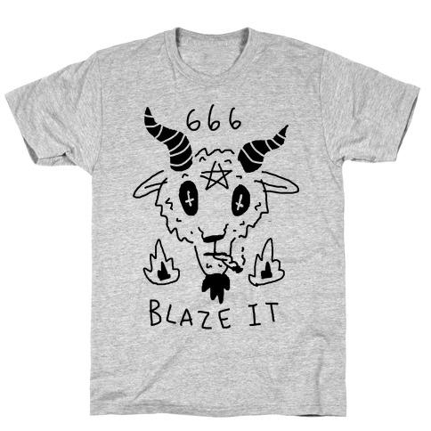 666 Blaze It Satan T-Shirt