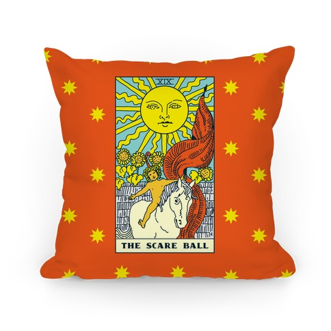 The Scare Ball Tarot Pillow