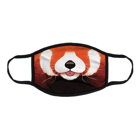 Red Panda Mouth Flat Face Mask
