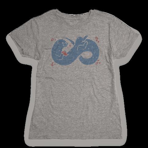 Infinity Otter  Womens T-Shirt