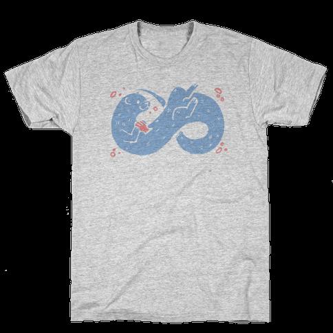 Infinity Otter  Mens T-Shirt