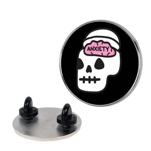 Anxiety Holder (Skull) Pin