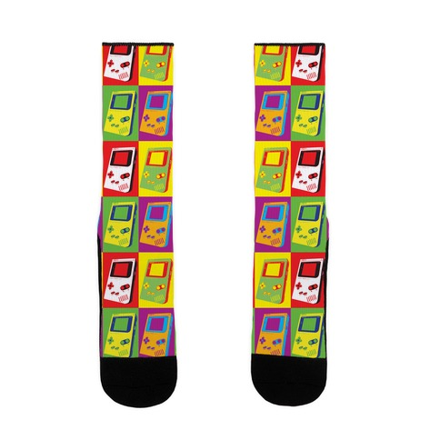 Gameboy Pop Art Pattern Sock