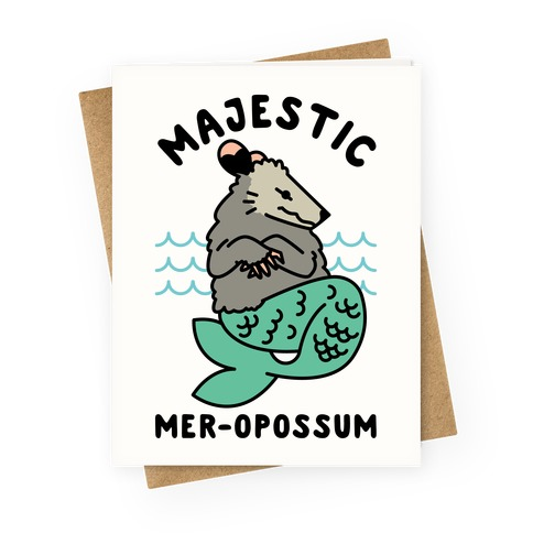 Majestic Mer-Opossum Greeting Card