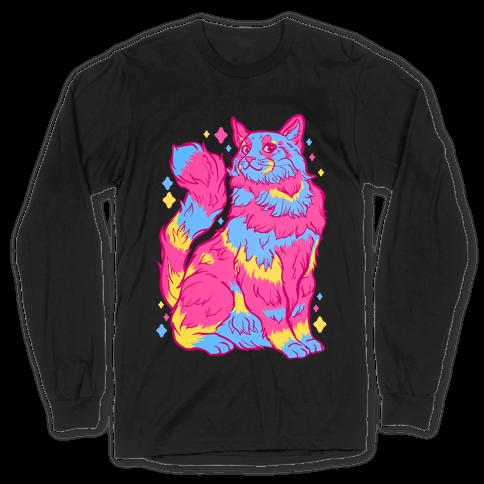 Pansexual Pride Cat Long Sleeve T-Shirt