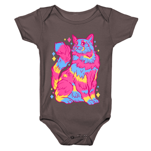 Pansexual Pride Cat Baby One-Piece