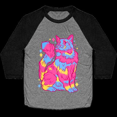 Pansexual Pride Cat Baseball Tee