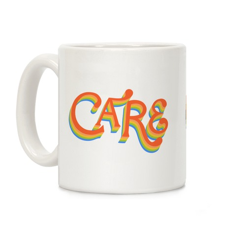 Care Retro Lettering Coffee Mug