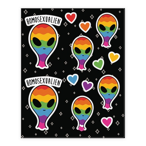 Homosexualien Sticker and Decal Sheet
