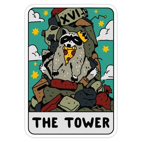 The Garbage Tower Tarot Die Cut Sticker