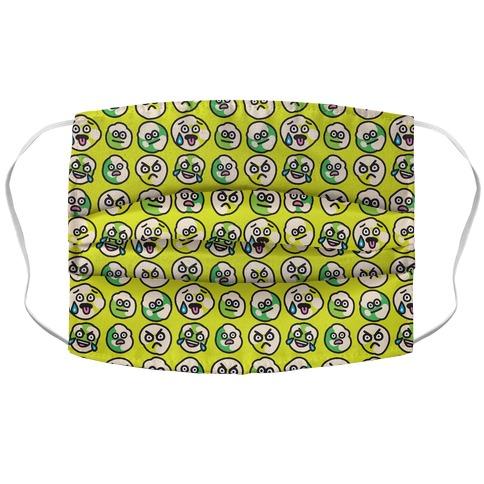 Wasabi Peas Pattern Accordion Face Mask