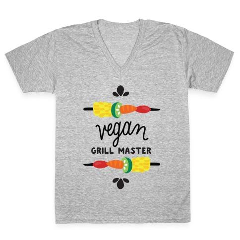 Vegan Grill Master V-Neck Tee Shirt
