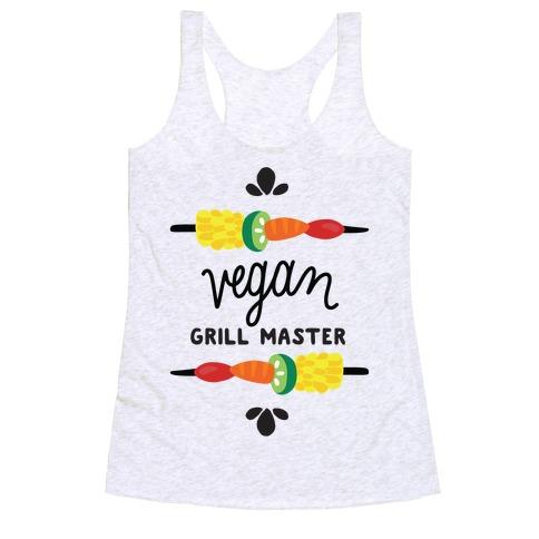 Vegan Grill Master Racerback Tank Top