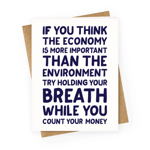 Try Holding Your Breath Greeting Card