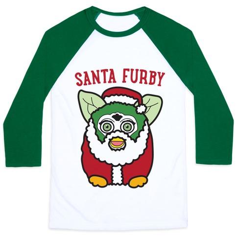 Santa Furby Baseball Tee