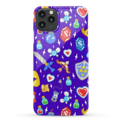 Zelda Items Pattern Phone Case