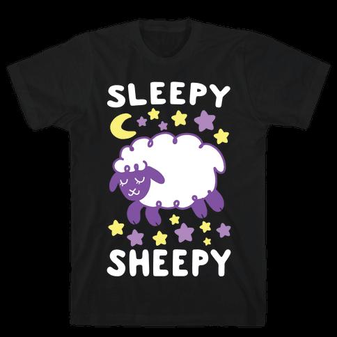 Sleepy Sheepy Mens/Unisex T-Shirt
