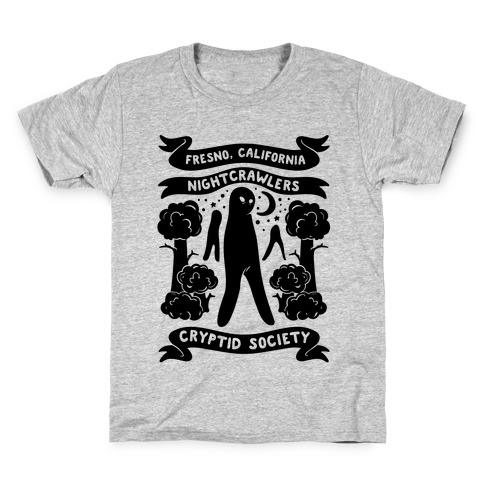 Fresno Nightcrawlers Cryptid Society Kids T-Shirt