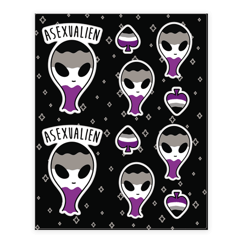 Asexualien Sticker/Decal Sheet