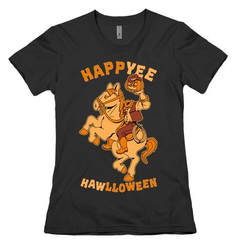 HappYEE HAWlloween Headless Cowboy Womens T-Shirt