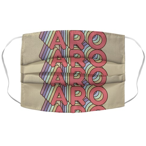 Aro Retro Rainbow Accordion Face Mask