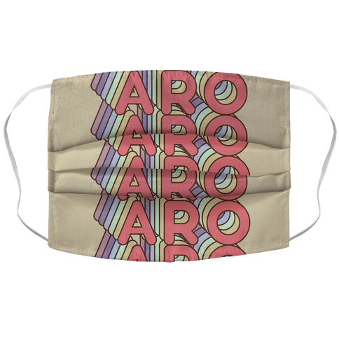 Aro Retro Rainbow Face Mask Cover
