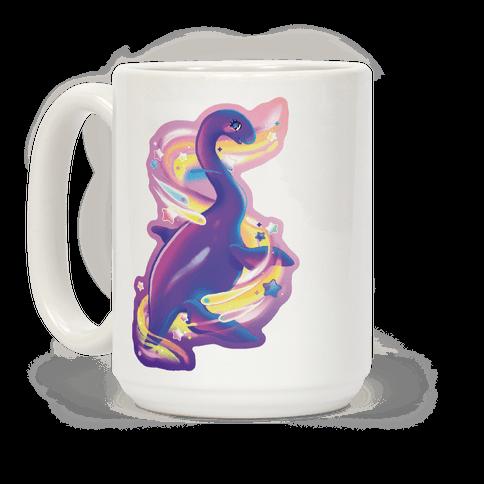 Neon Rainbow Loch Ness Coffee Mug