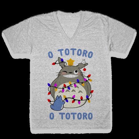 O Totoro, O Totoro V-Neck Tee Shirt