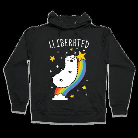 Liberated Llama Hooded Sweatshirt