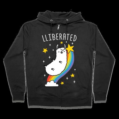 Liberated Llama Zip Hoodie