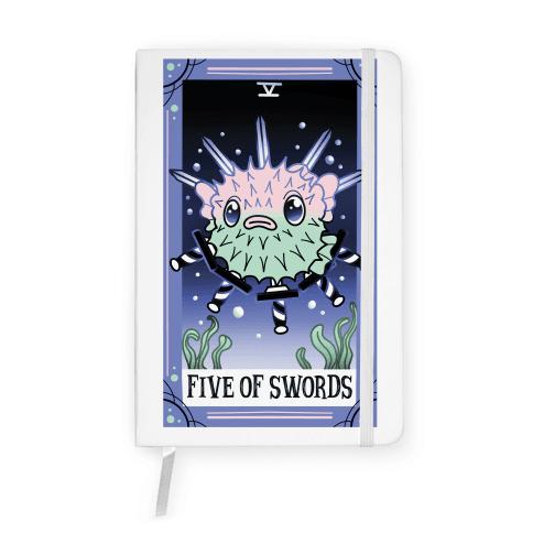 Creepy Cute Tarots: Five of Swords Notebook