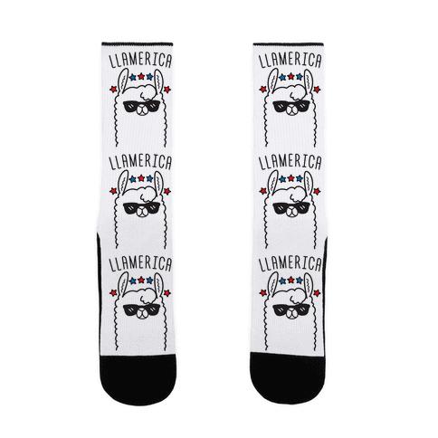 Llamerica American Llama Sock