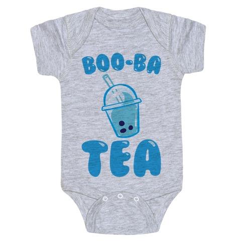 Boo-Ba Tea (Ghost Boba Tea Parody) Baby Onesy