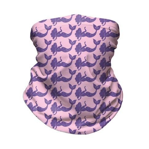 Pink and Purple Mermaid Pattern  Neck Gaiter