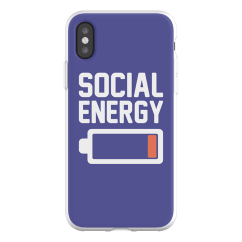 Social Energy Low Phone Flexi-Case