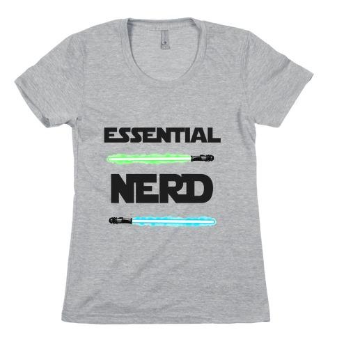 Essential Nerd Star Wars Parody Lightsaber Womens T-Shirt