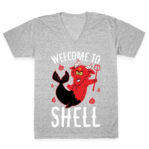 Welcome To Shell V-Neck Tee Shirt