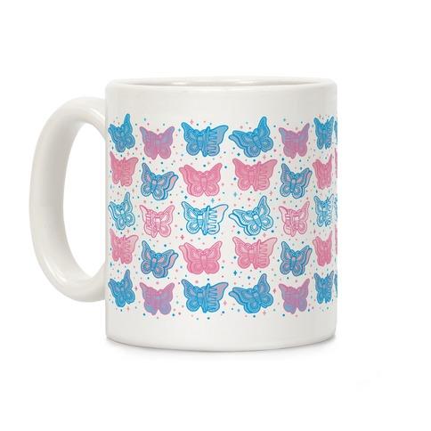 Butterfly Clips Trans Pride  Coffee Mug